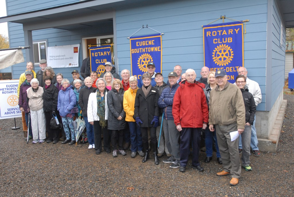 Rotarians showed up in full force to celebrate and support this build!