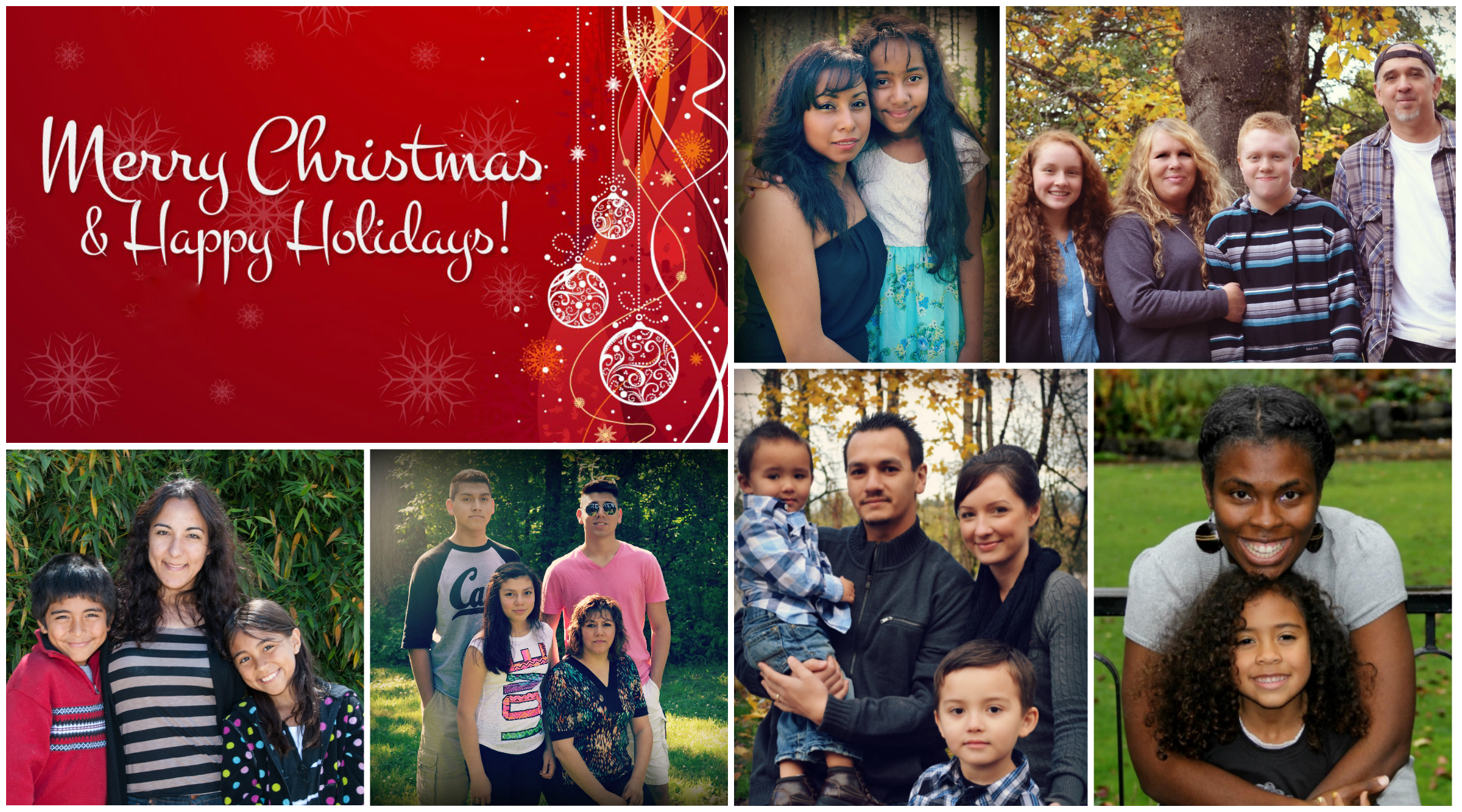 Xmas Family Collage