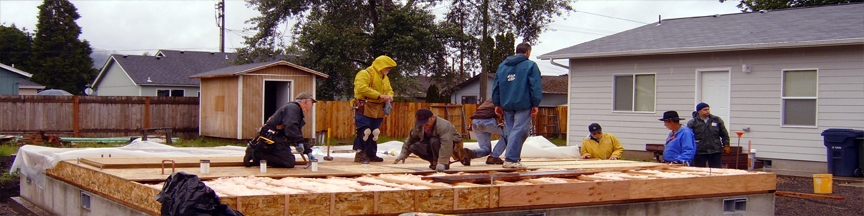 Habitat for Humanity of Central Lane new home construction
